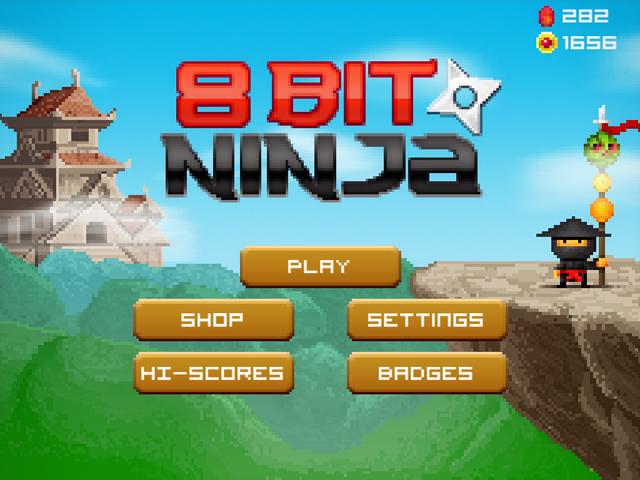 8bit Ninja Screenshots | DogByte Games | iPhone / Android
